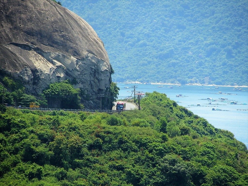 Travelling by bus along the Phu Yen & Quy Nhon coast, Vietnam