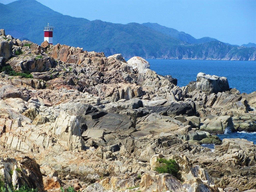 The lighthouse at Ganh Da Dia, Phu Yen Province, Vietnam