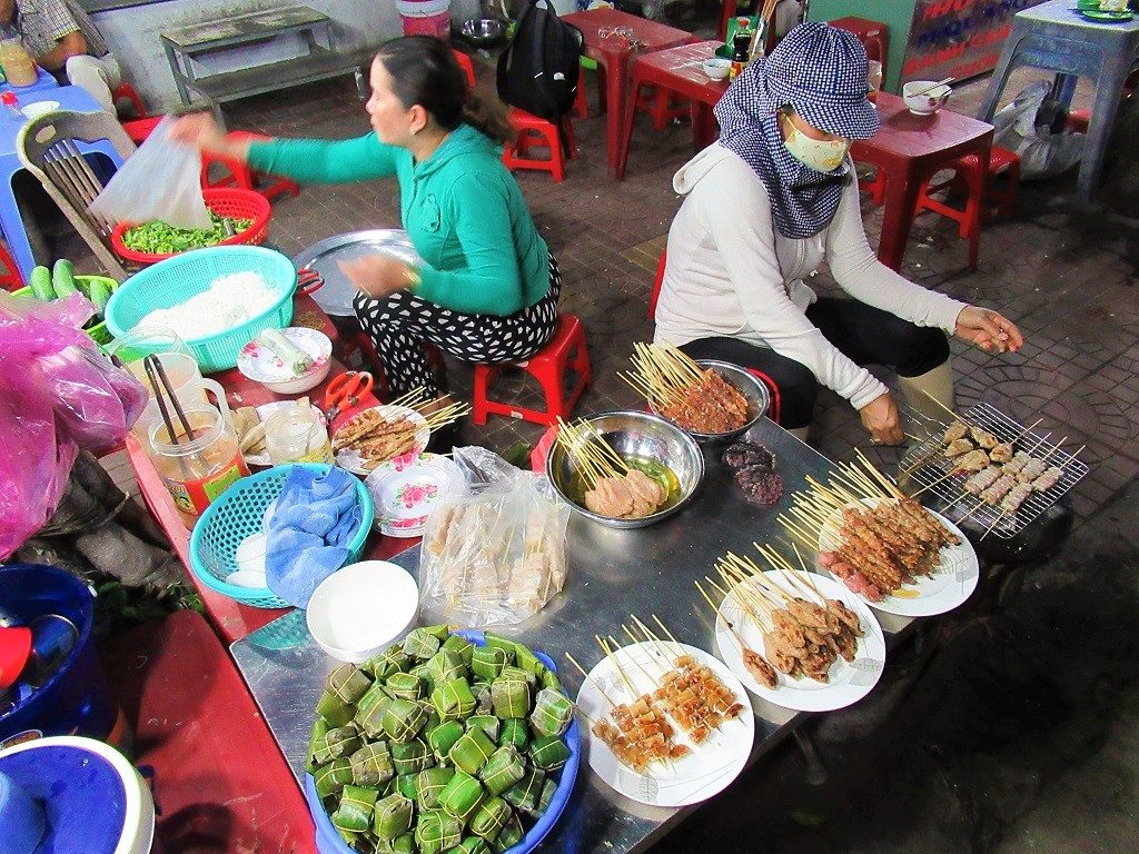 Street food in Quy Nhon, Binh Dinh Province, Vietnam