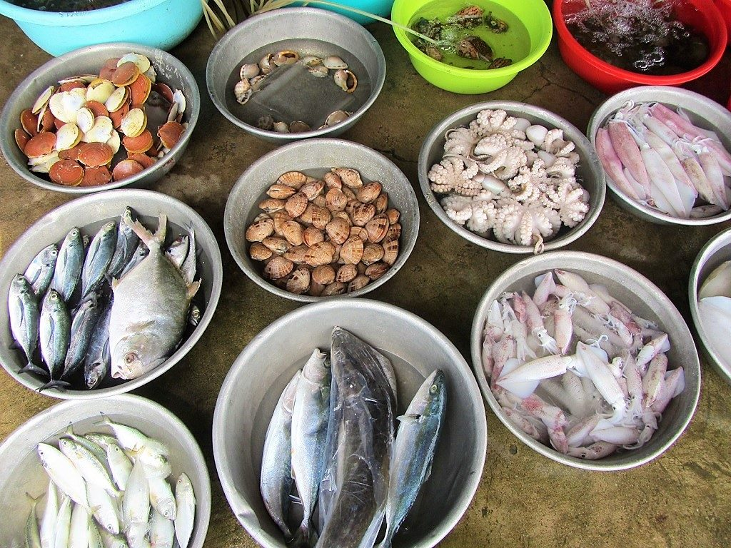 Seafood in Quy Nhon, Binh Dinh Province, Vietnam