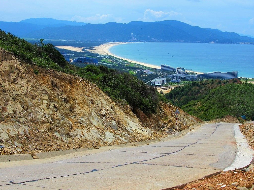The road to Ky Co beach, Quy Nhon, Vietnam