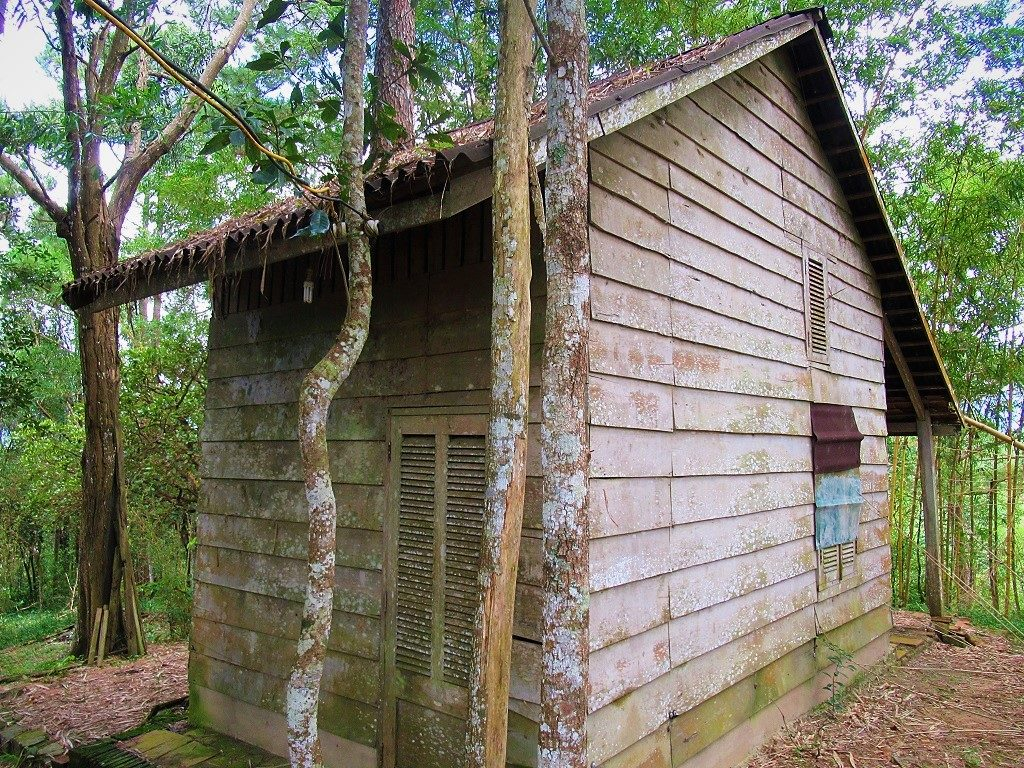 A wooden cabin at Phuong Boi forest, Thich Nhat Hanh's retreat, Vietnam