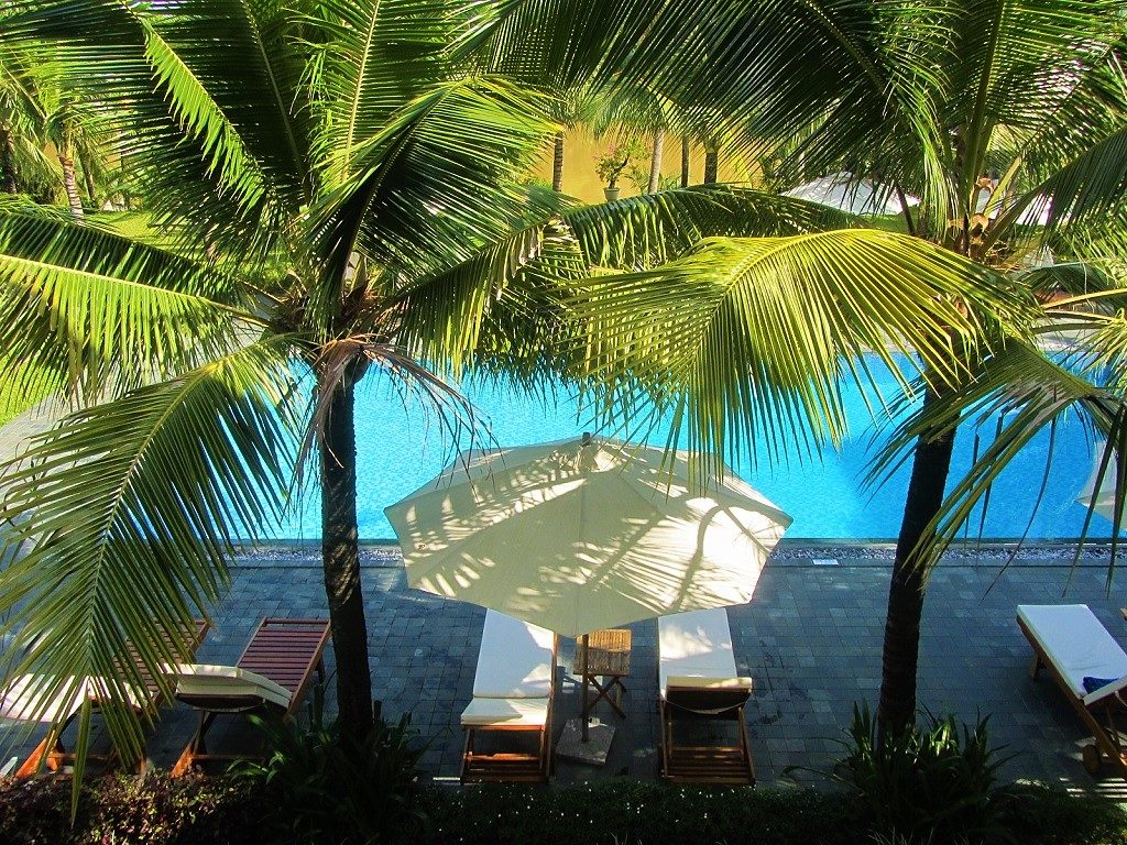 The pool at Hoi An Waterway Resort, Vietnam
