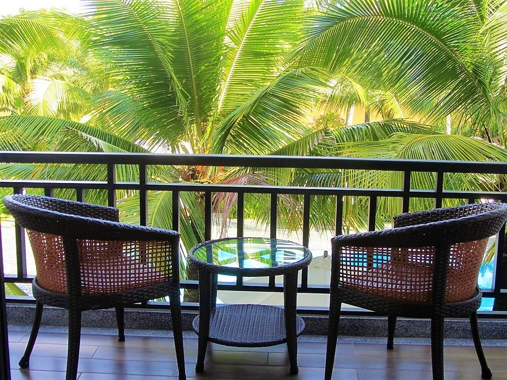 Guest room balcony at Hoi An Waterway Resort, Vietnam