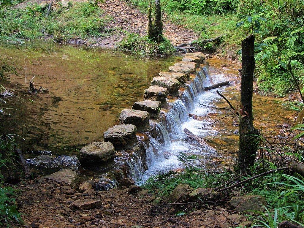 The hiking trail up Fansipan mountain, Vietnam