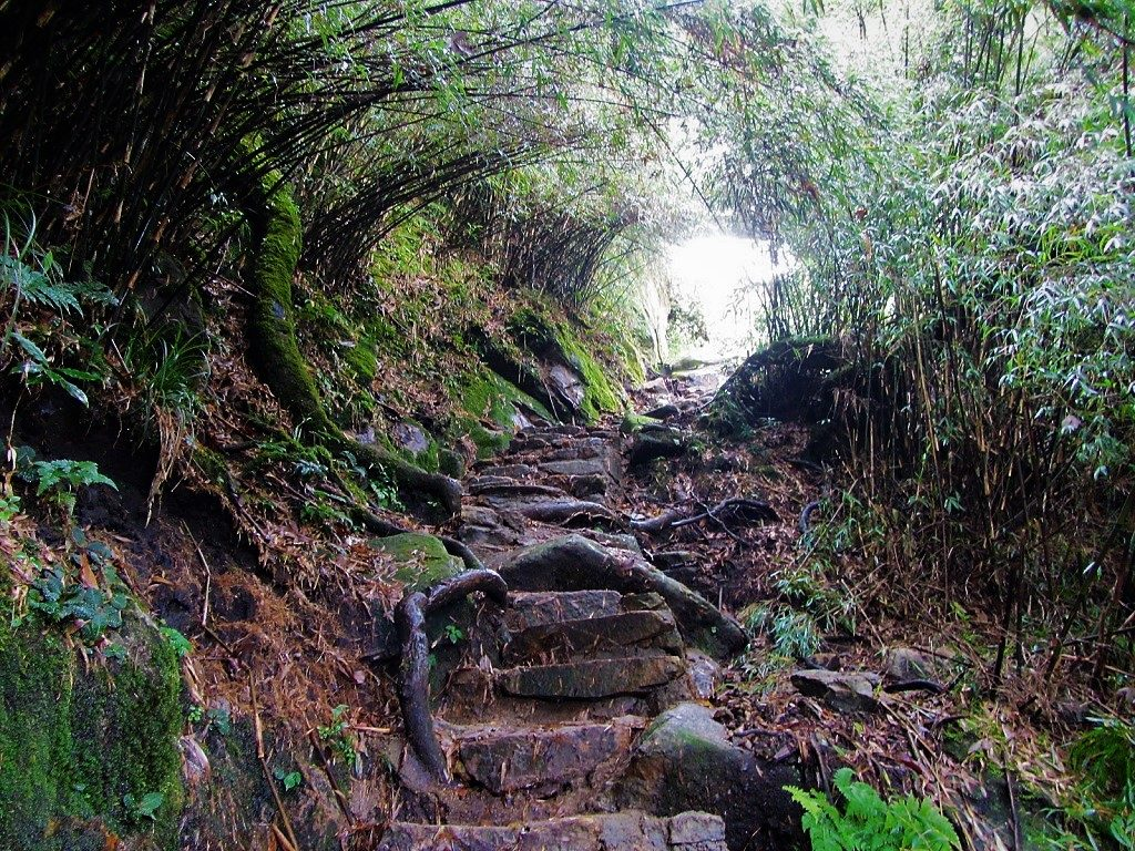 The hiking rail up Fansipan mountain, Vietnam