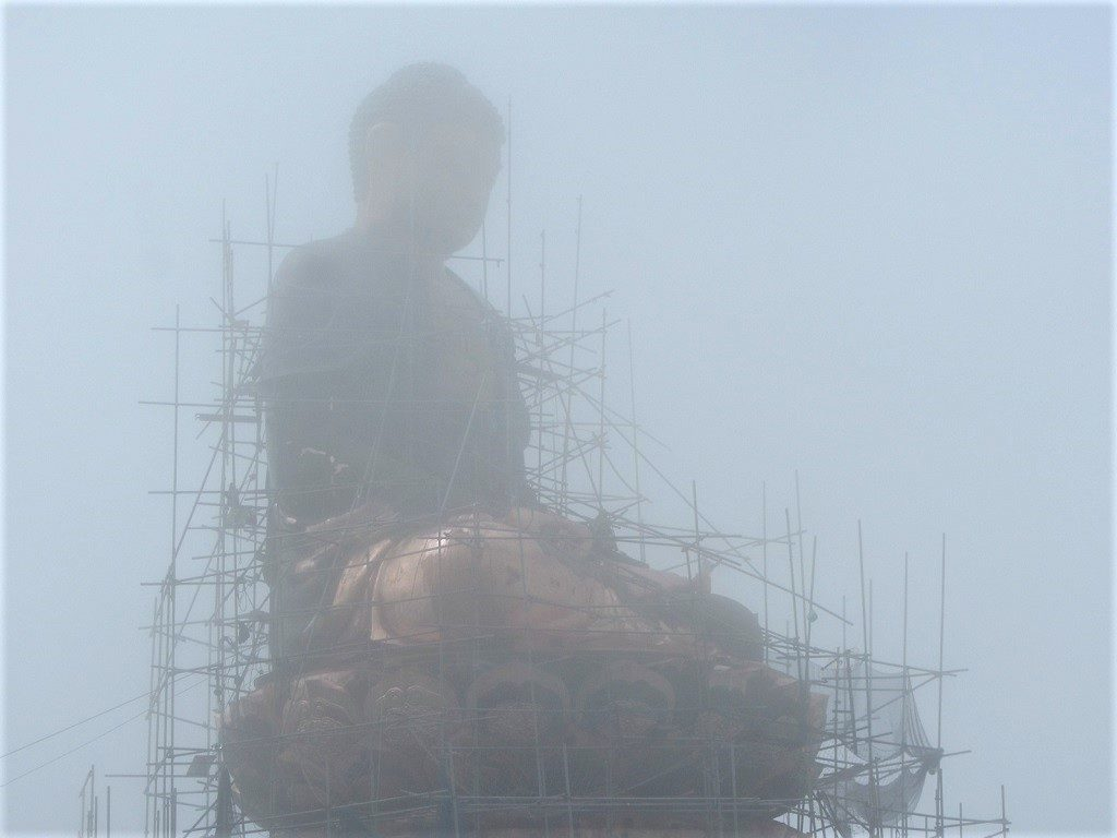 Statue of seated Buddha, Fansipan mountain summit, Vietnam