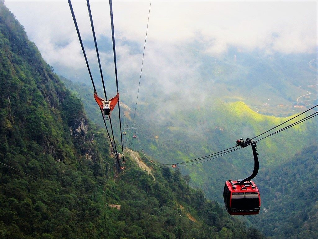 The Fansipan mountain summit cable car, Vietnam
