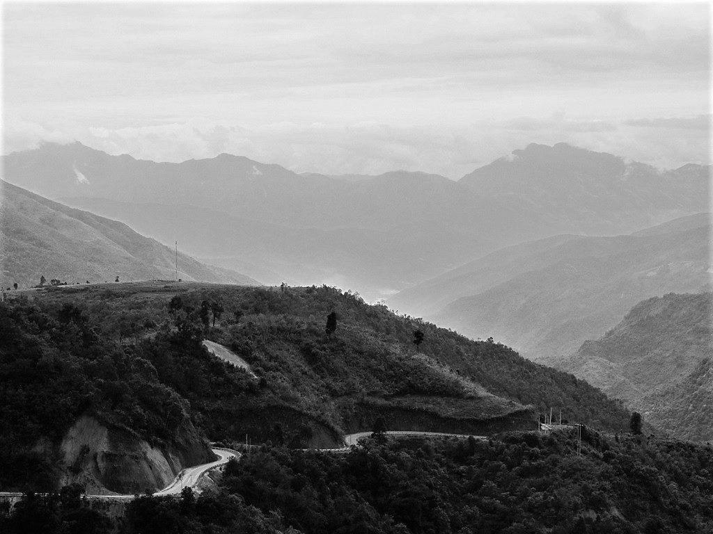 Mountain road, Lai Chau Province, northwest Vietnam