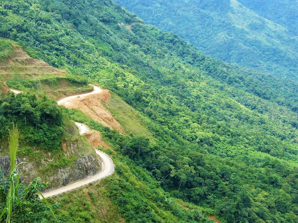 Mountain road, Lai Chau Province, northwest Vietnam