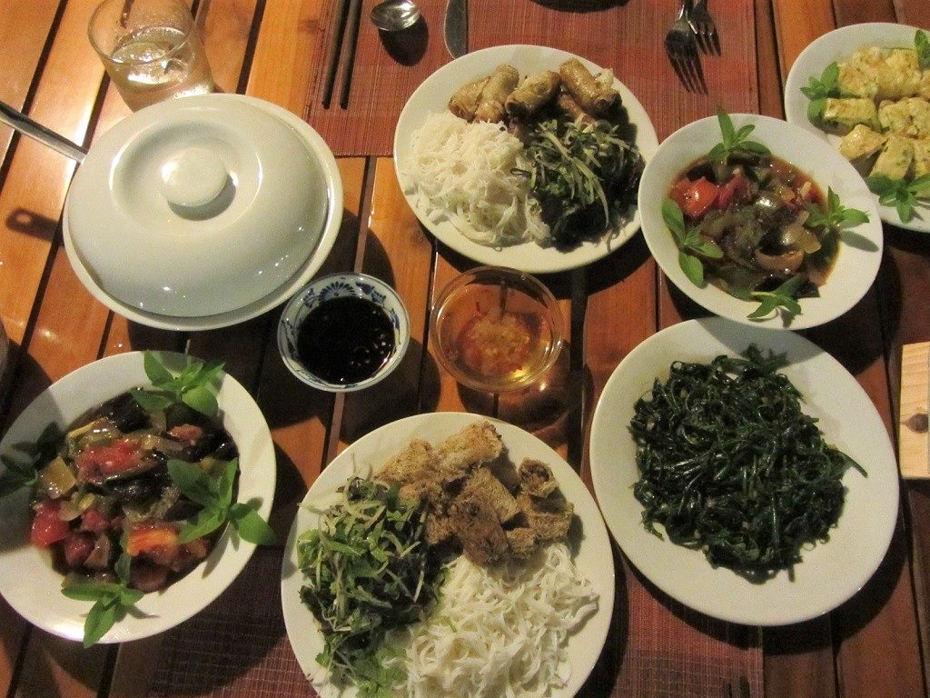 Dinner at Pan Hou Village Ecolodge, Ha Giang, Vietnam