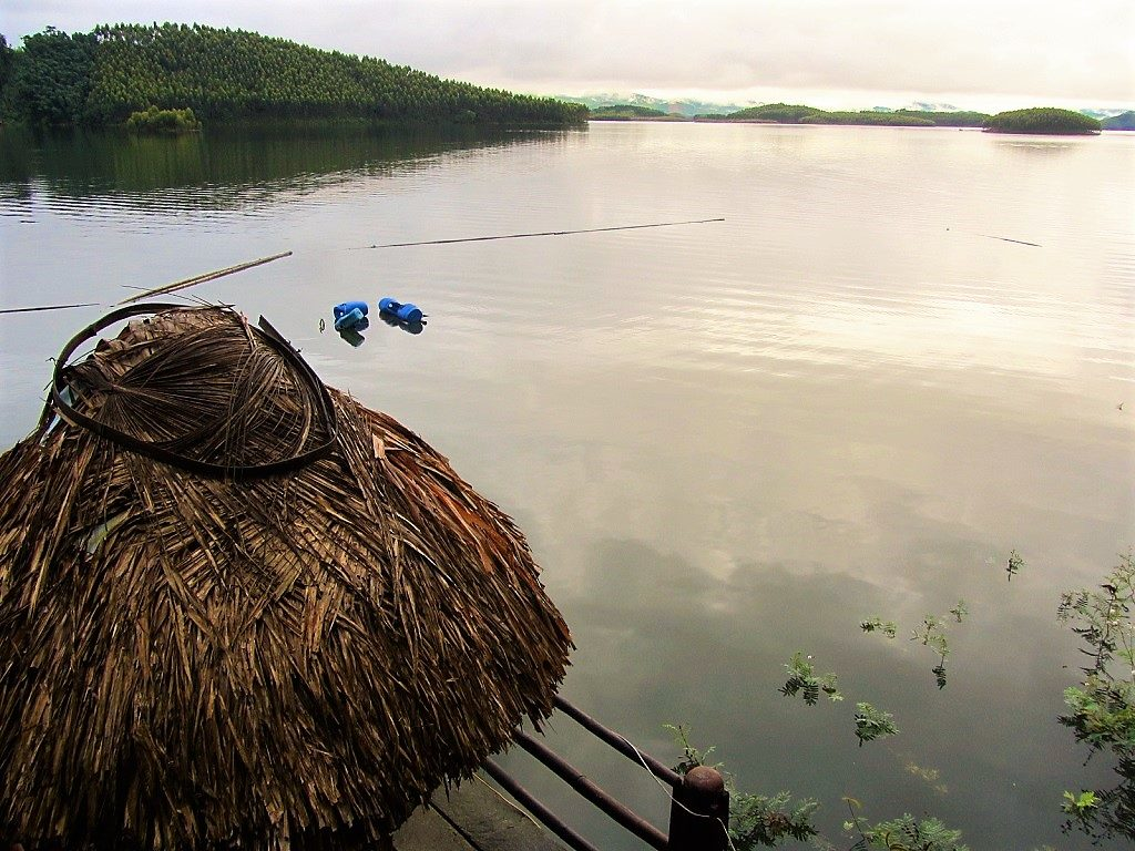 View from Vu Linh homestays, Thac Ba Lake, Yen Bai Province, Vietnam
