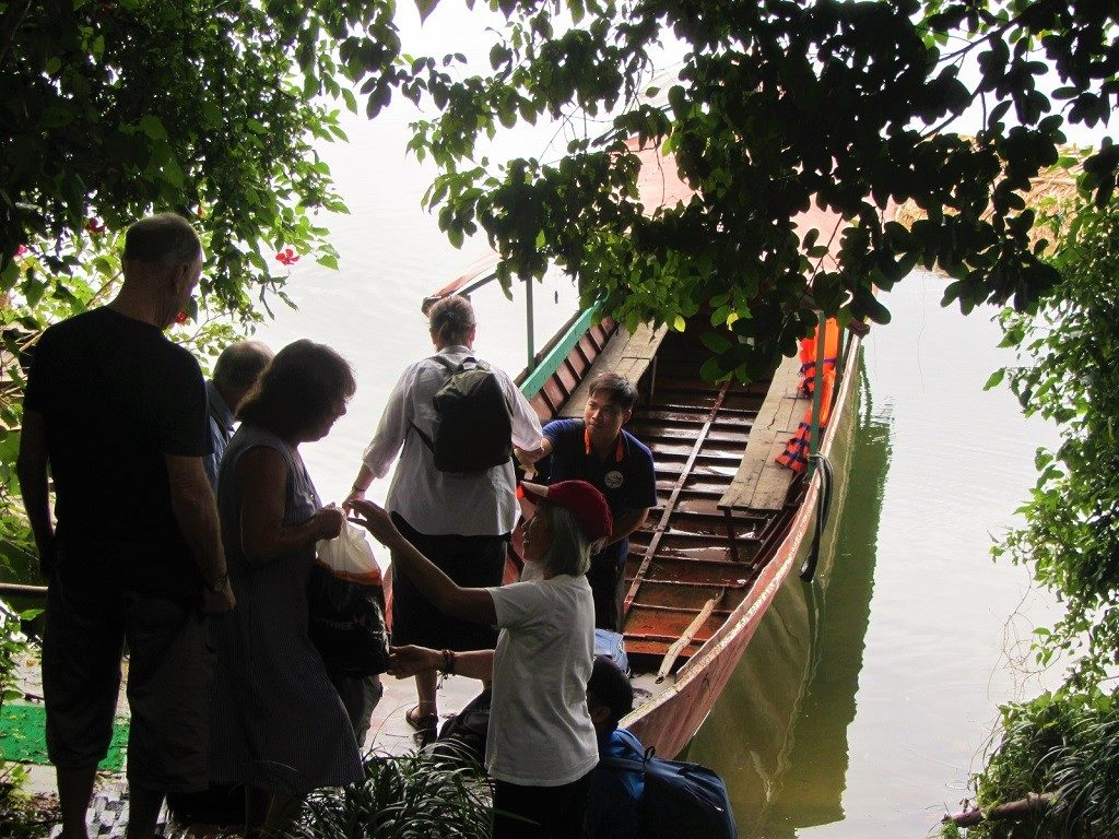 Boarding the boat on Thac Ba Lake, Vu Linh, Ye Bai Province, Vietnam