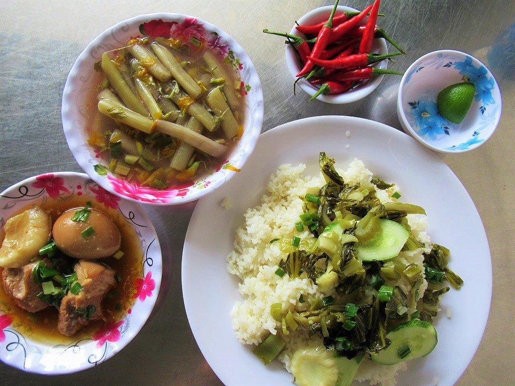 A rice lunch, Nam Du Islands, Vietnam