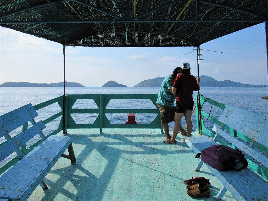 Taking a boat tour in the Nam Du Islands, Vietnam