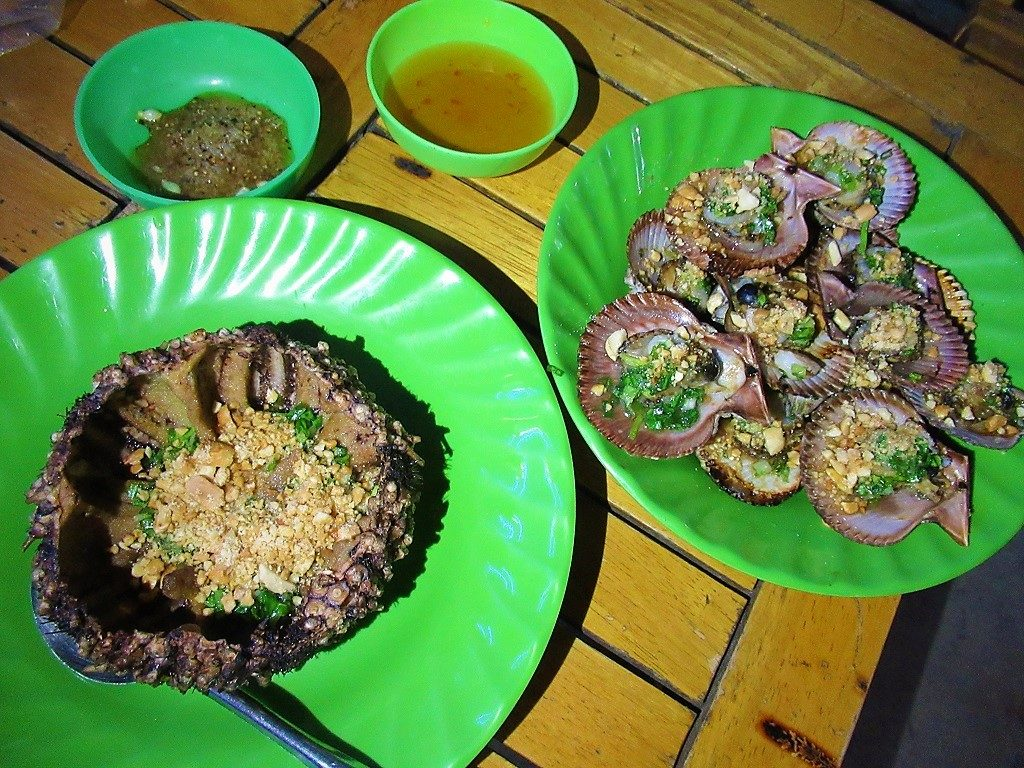 Fresh seafood, Nam Du Islands, Vietnam