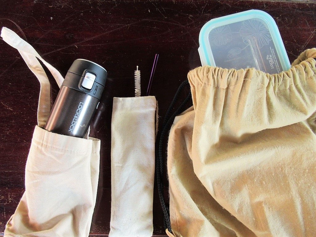 My reusable cloth bags and kit