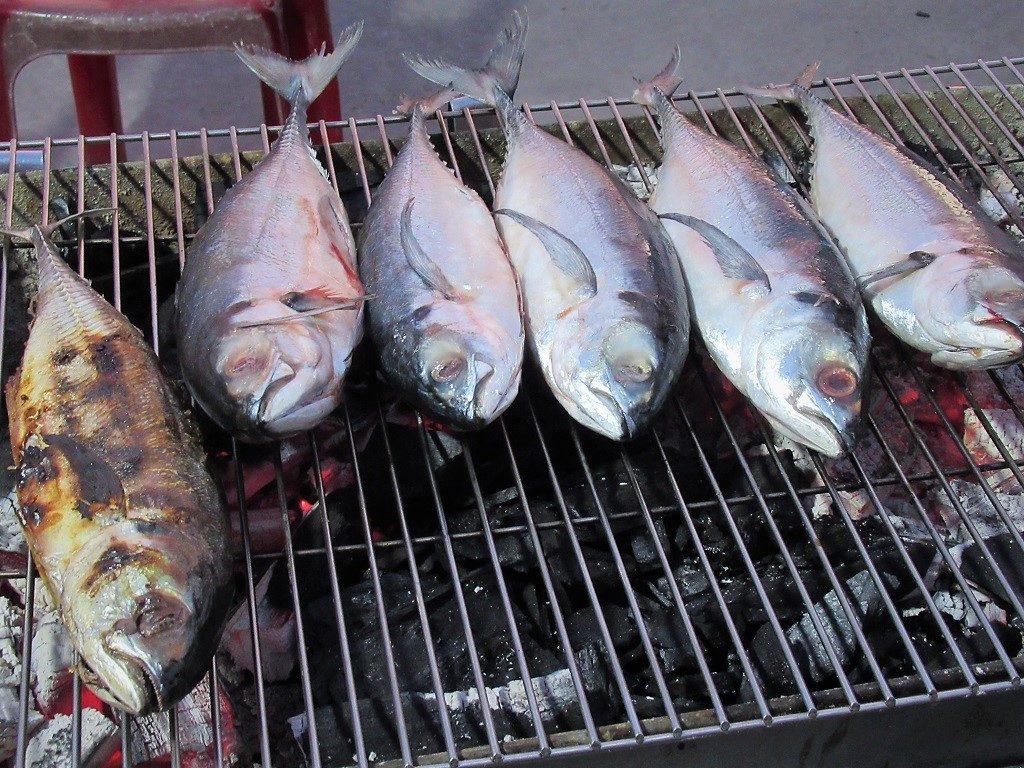 Fresh seafood, Hon Son Island, Vietnam