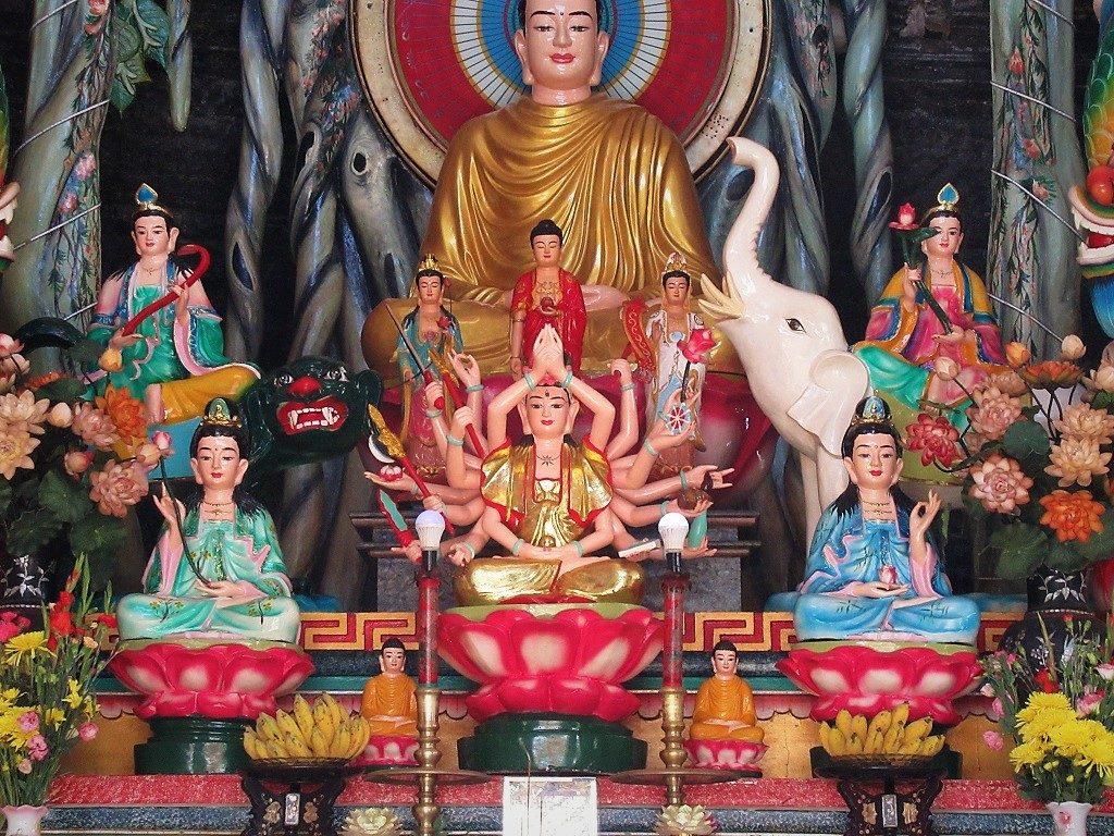 A Buddhist altar, Phu Quy Island, Vietnam