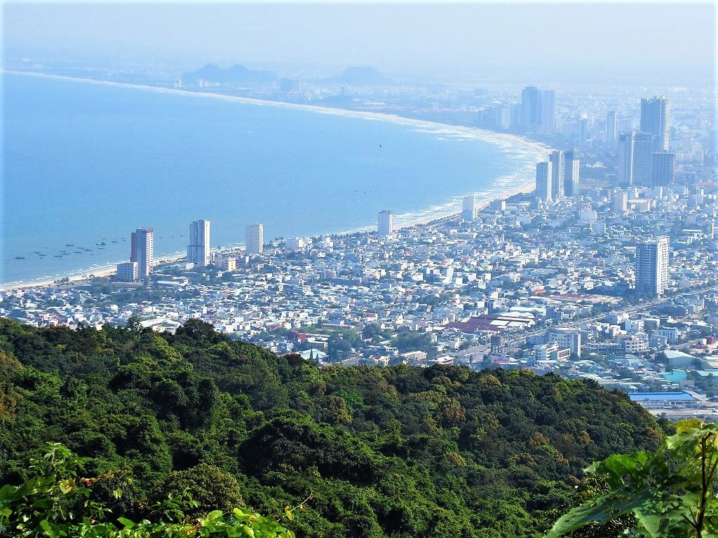 View of Danang from Son Tra Peninsular, Vietnam