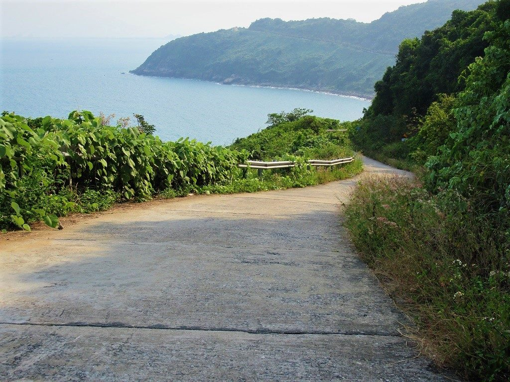 Coast road on Son Tra Peninsular, Danang, Vietnam