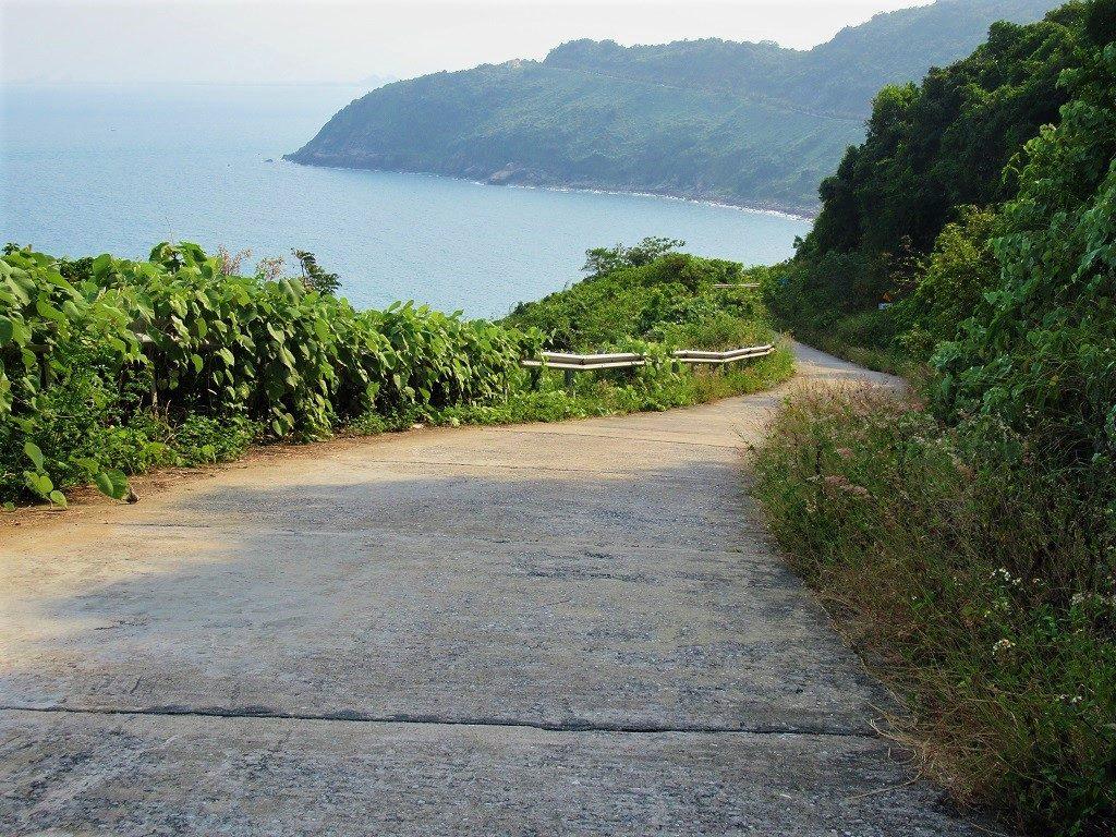 Coast road on Son Tra Peninsular, Danang, Vietnam