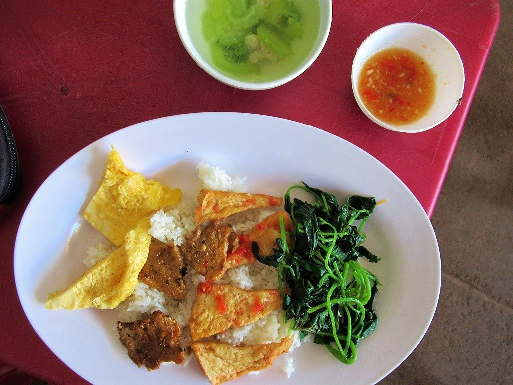 Rice lunch, Ly Son Island, Quang Ngai Province, Vietnam