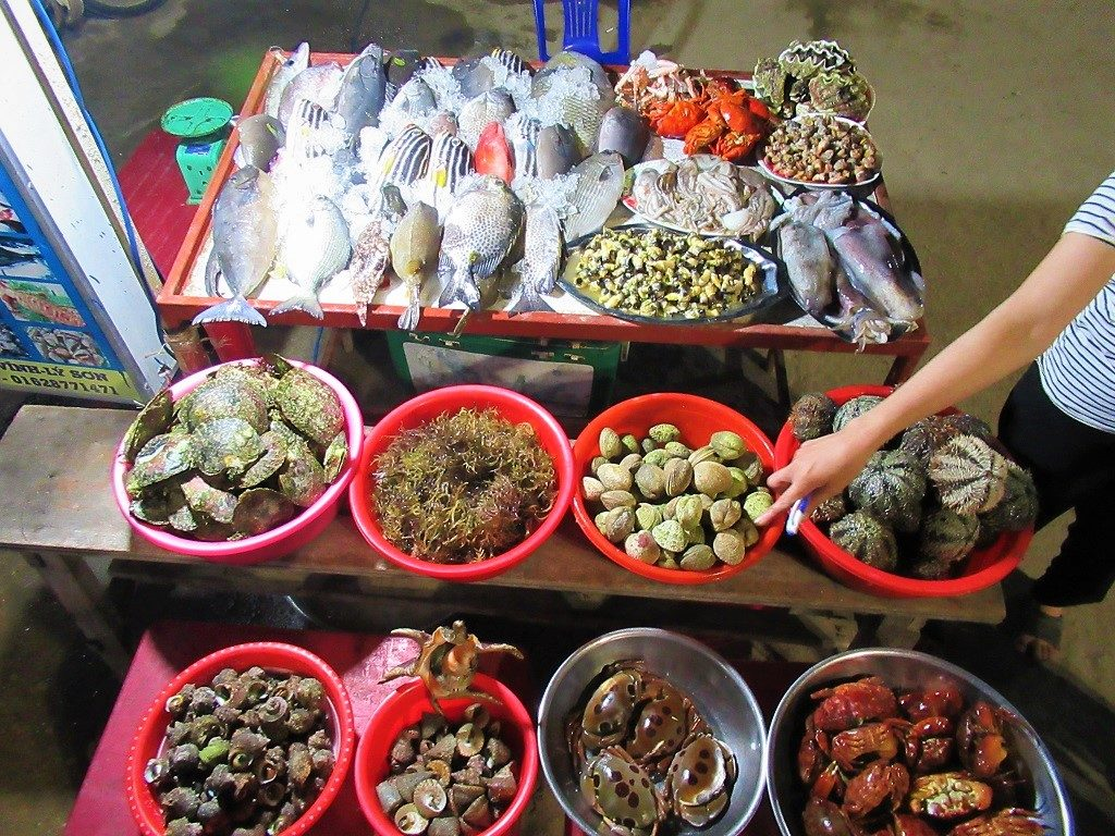 Seafood on Ly Son Island, Quang Ngai Province, Vietnam