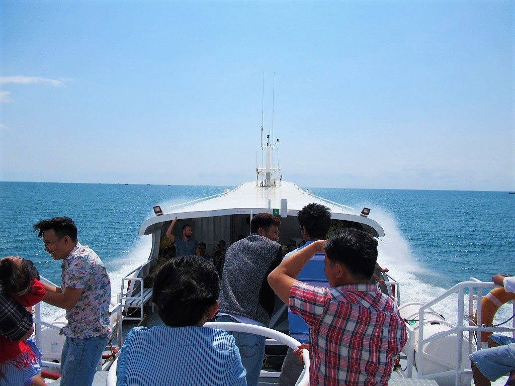 The boat to Phu Quy Island, Vientam