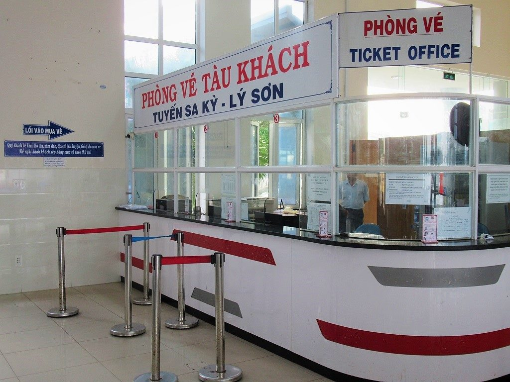 Passenger ticket office, Sa Ky Port, Vietnam