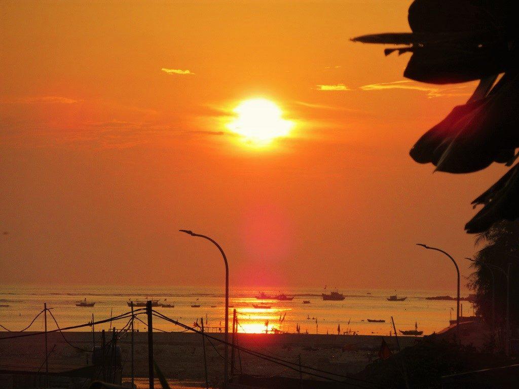 The sun sets on Ly Son Island, Vietnam