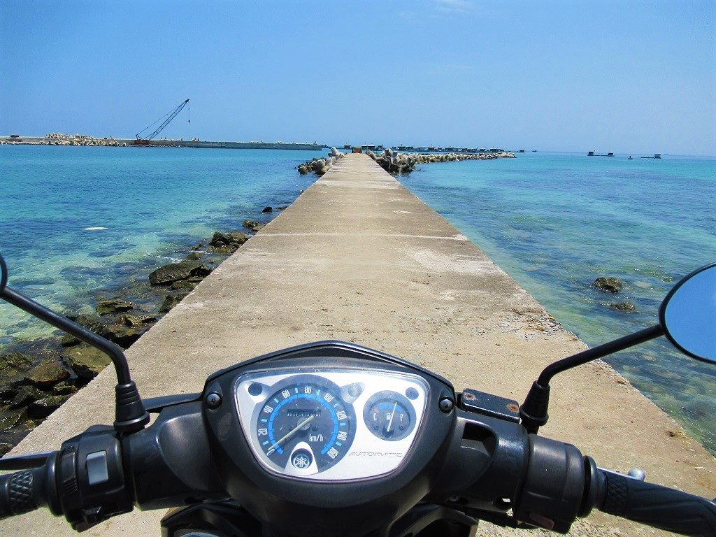 Getting around Ly Son Island by motorbike, Vietnam