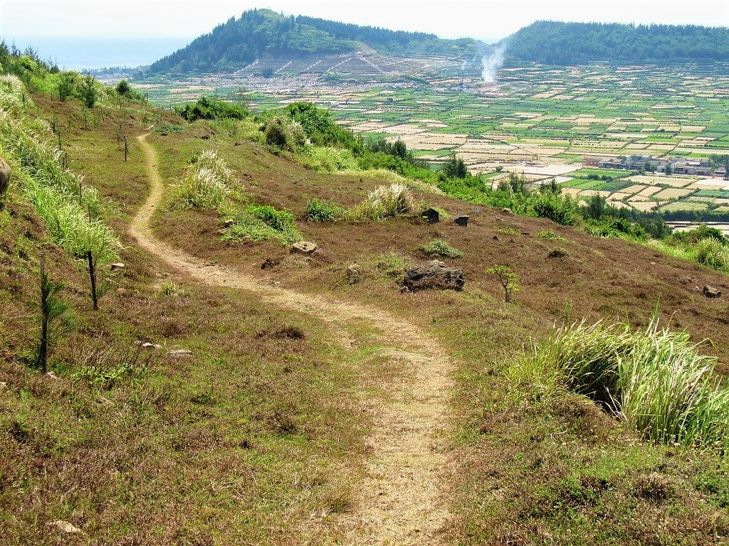 Hiking on Ly Son Island, Quang Ngai Province, Vietnam