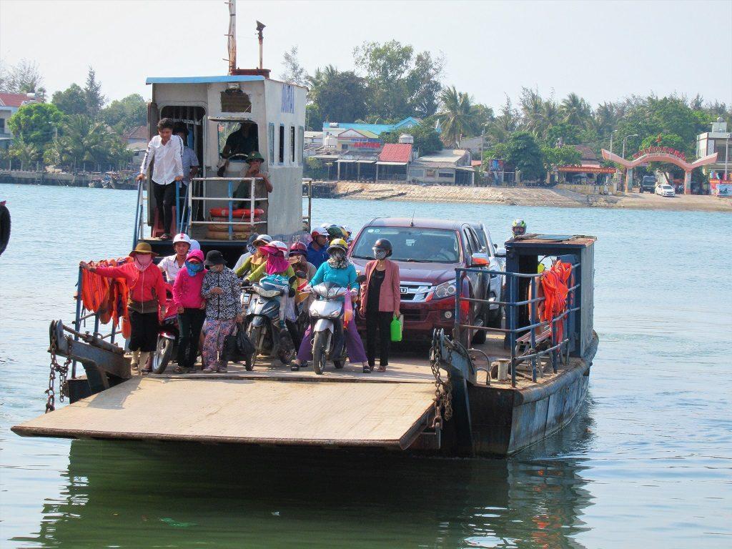 The ferry to Tam Hai Island, Quang Nam Province, Vietnam