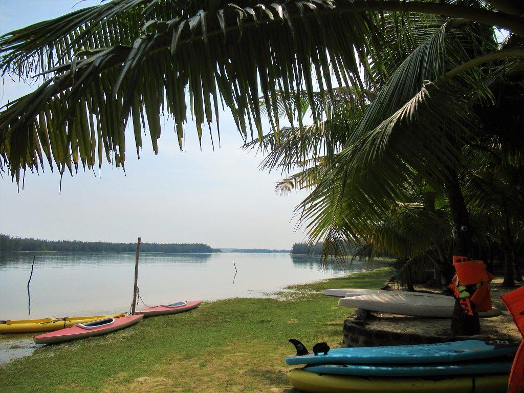 Kayaks on Tam Hai Island, Quang Nam Province, Vietnam