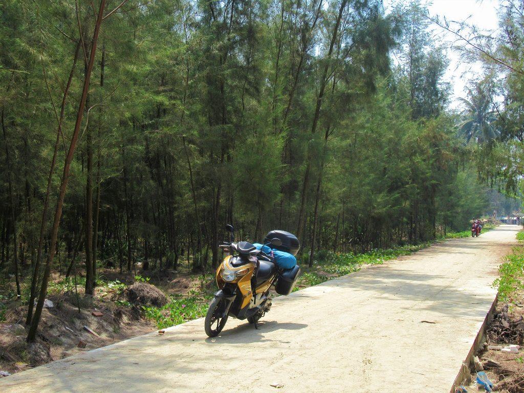Motorbiking on Tam Hai Island, Quang Nam Province, Vietnam