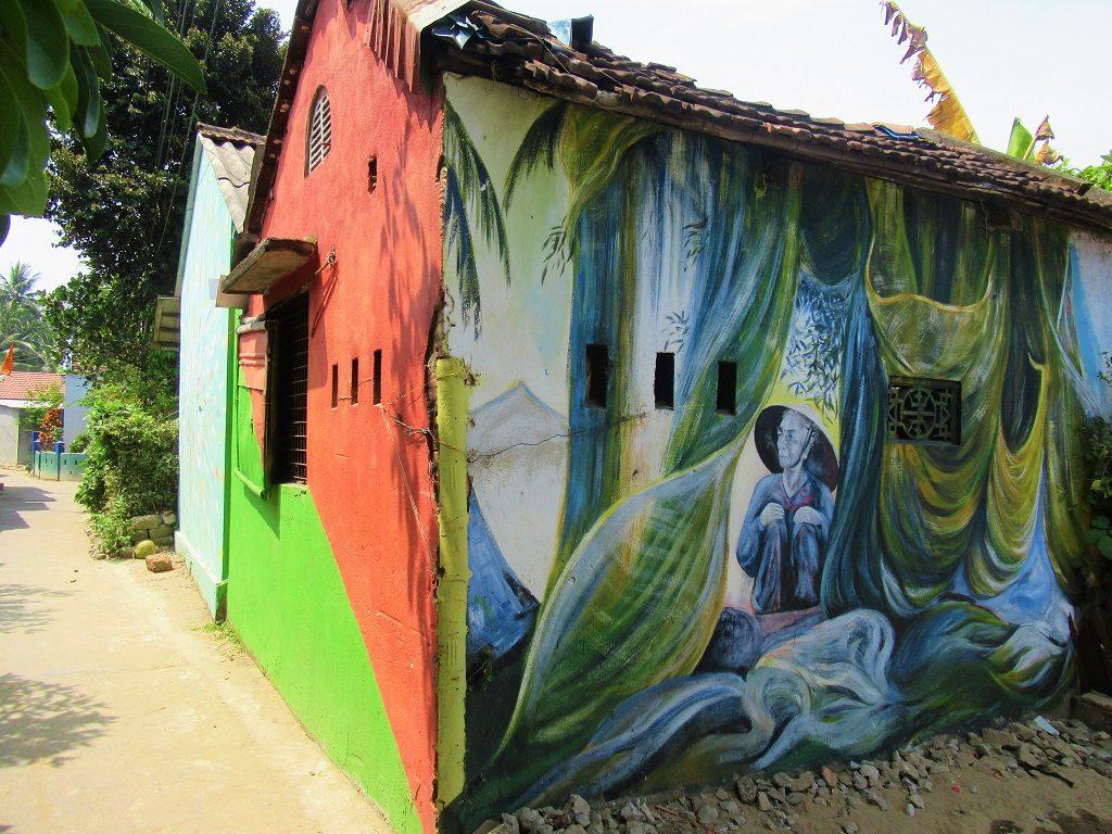 Mural village, Tam Hai Island, Quang Nam Province, Vietnam