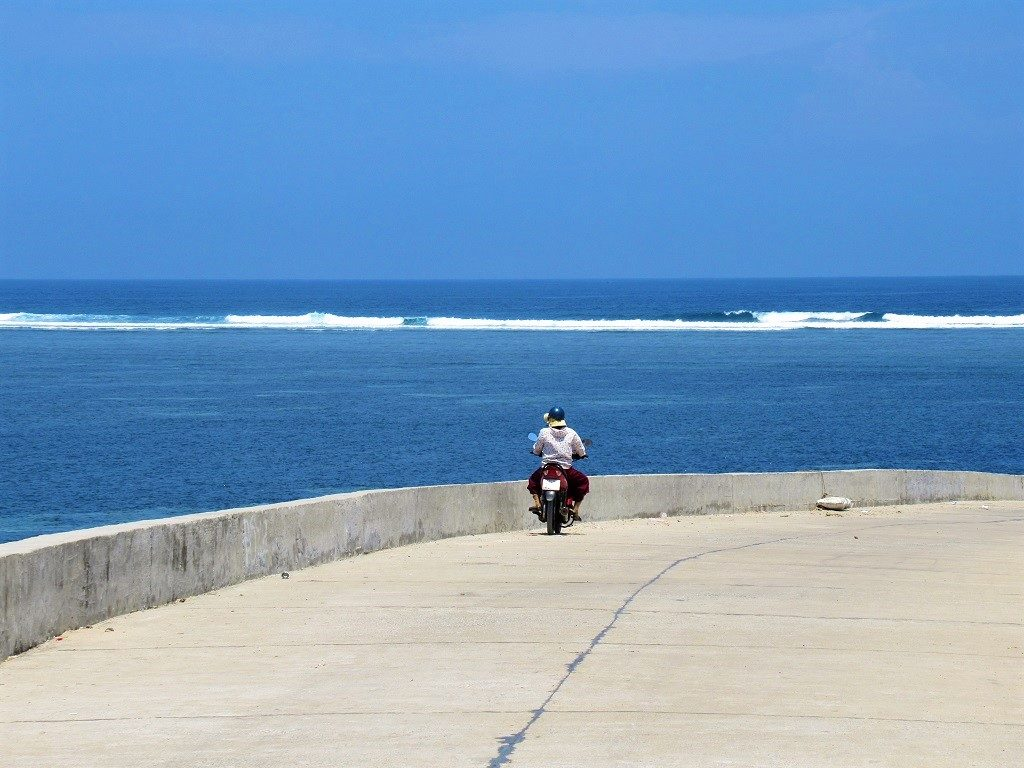 Riding coast roads, Ly Son Island, Vietnam