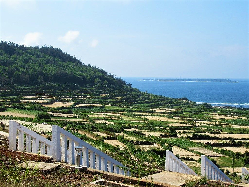The slopes of volcanic craters on Ly Son Island, Vietnam