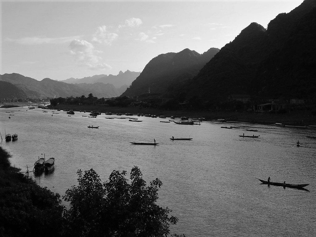 Boats on the river, Phong Nha, Vietnam