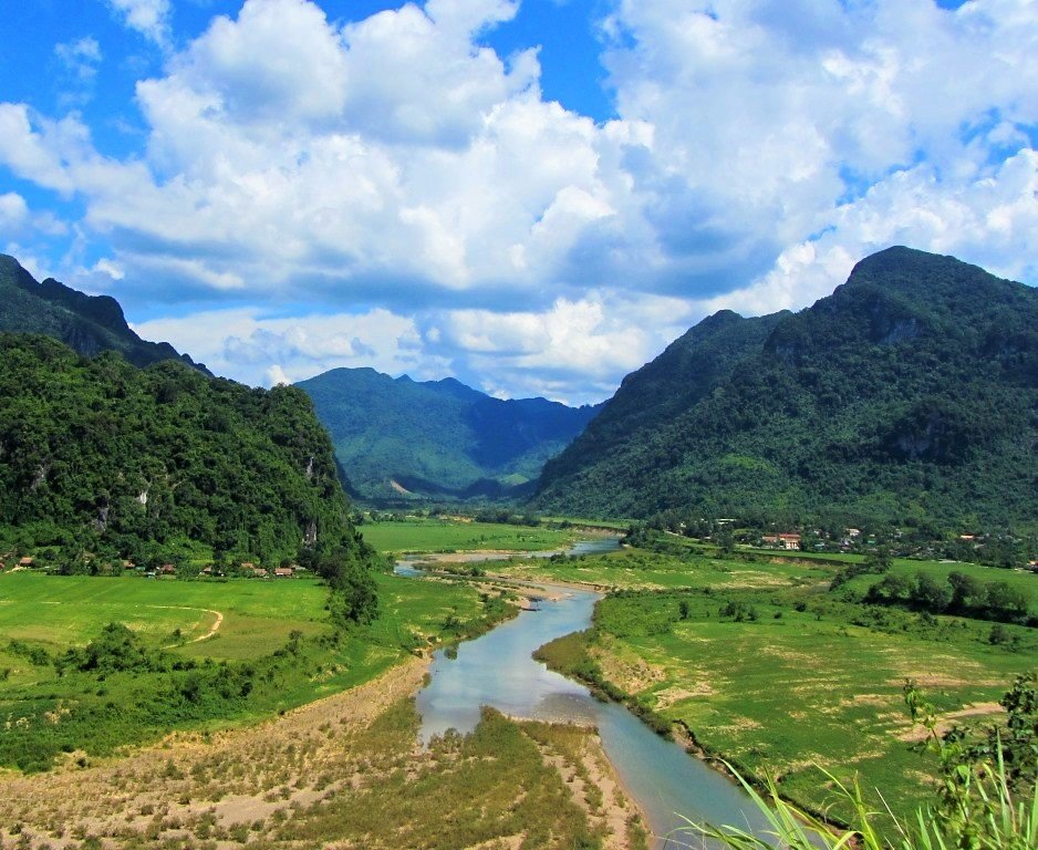 Scenery on the Western Ho Chi Minh Road, Vietnam