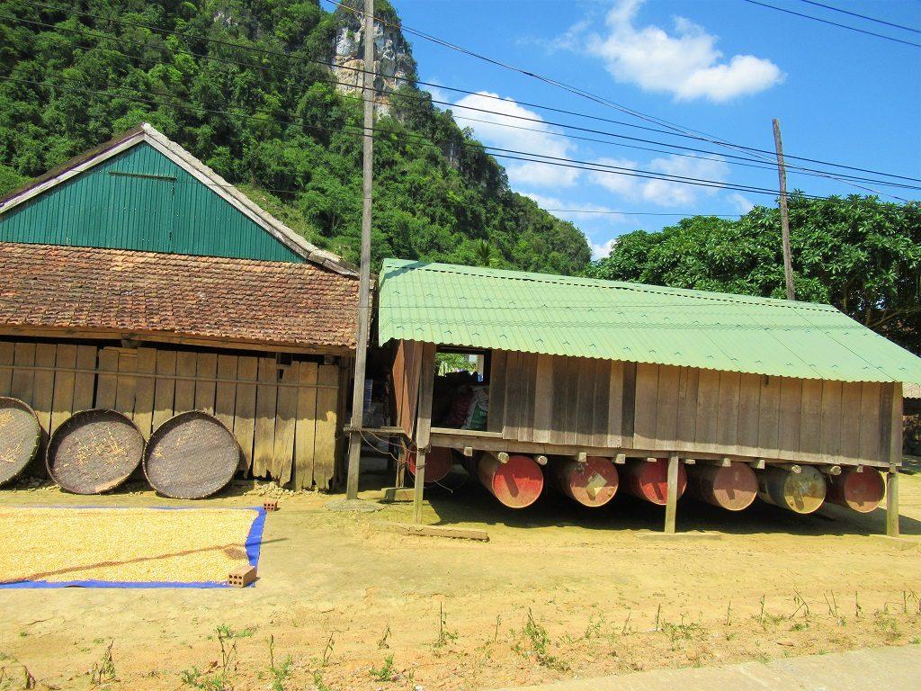 Floating homes with barrels, Quang Binh, Vietnam