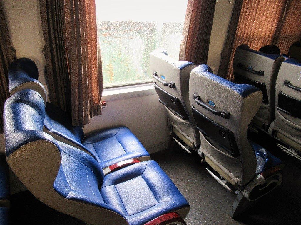 Soft seat class on the Hanoi-Haiphong train, Vietnam
