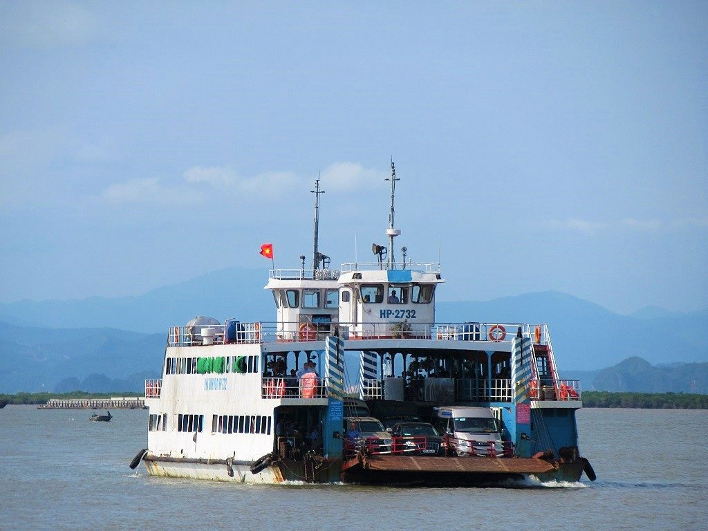 The car ferry between Haiphong & Cat Ba Island, Vietnam