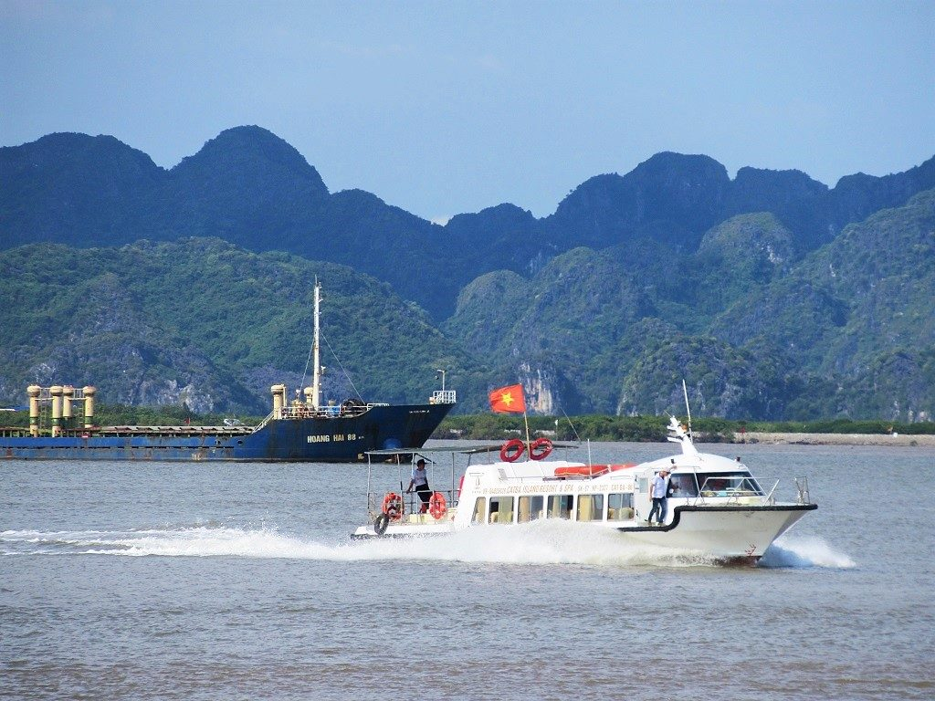 The fast boat between Haiphong & Cat Ba Island, Vietnam