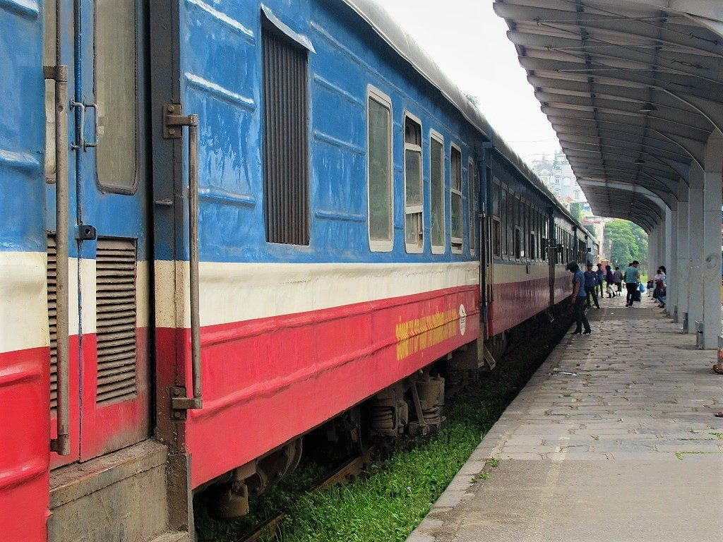 The Hanoi-Ha Long City train, Vietnam