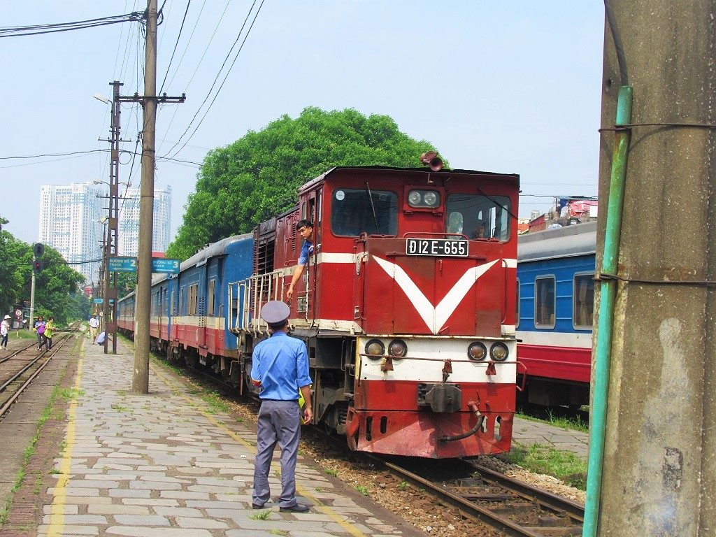 The Hanoi-Hai Phong train, Vietnam