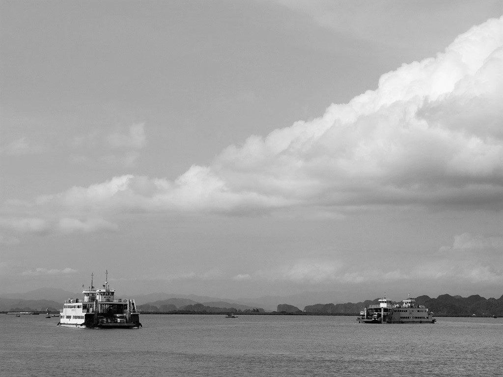 The car ferry to Cat Ba Island, Vietnam