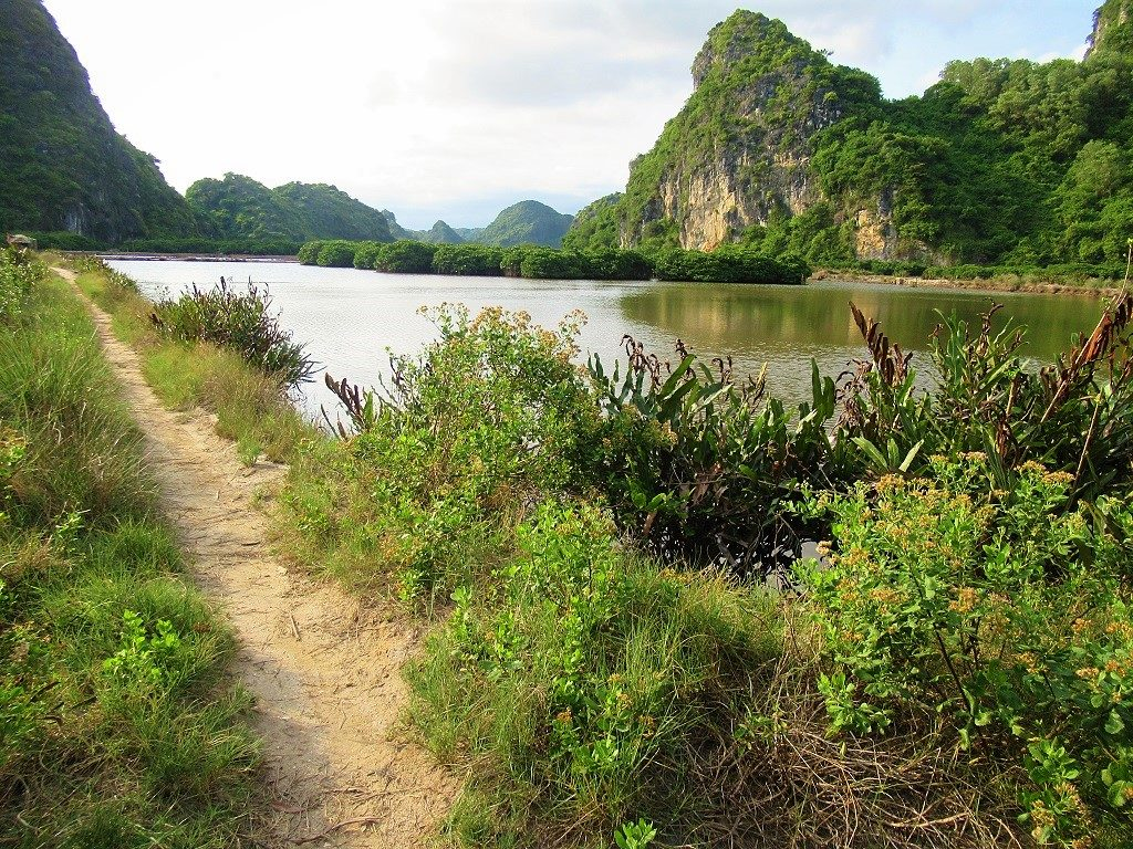Walking trails on Cat Ba Island, Vietnam