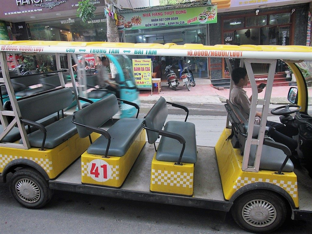 Electric buggies, Cat Ba Island, Vietnam